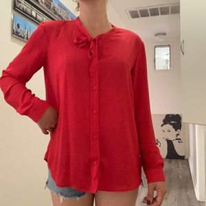 LIKE NEW RED BLOUSE from French Brand